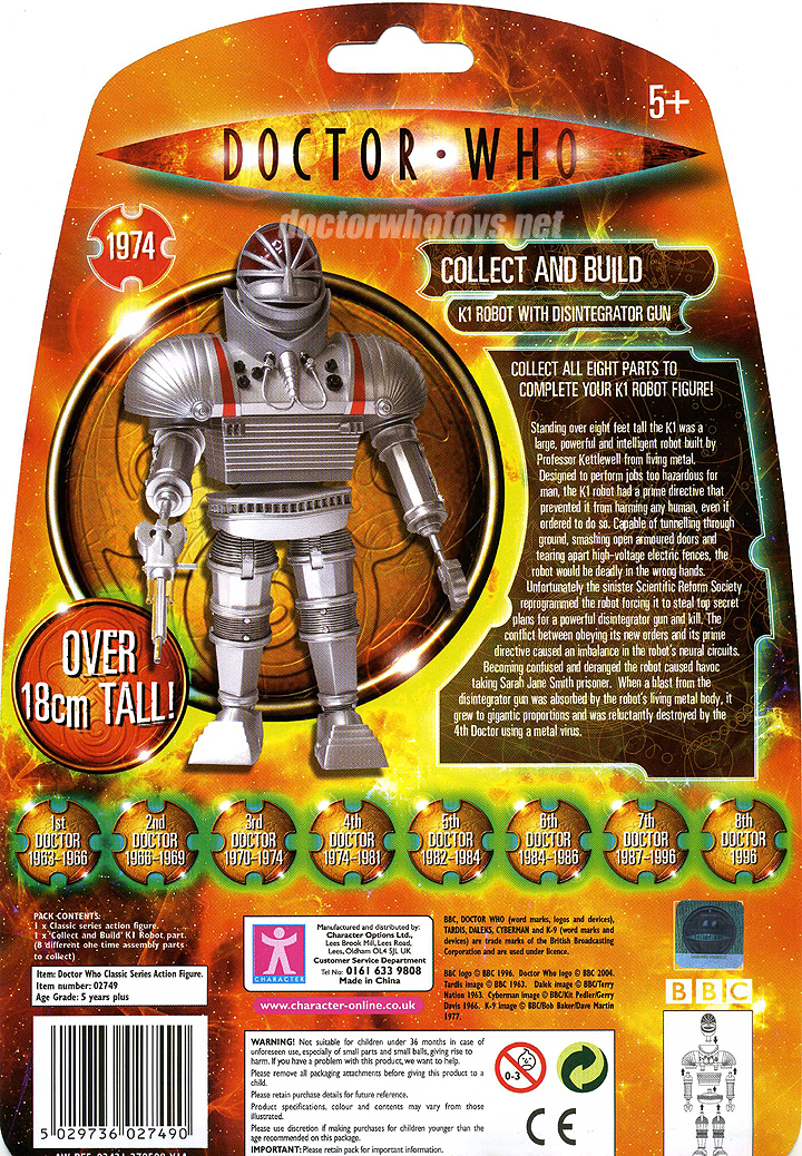 Doctor Who Classic Series K1 Robot
