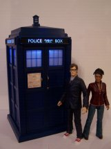 Flight Control Tardis with The Doctor and Martha Jones