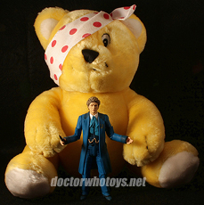 Pudsey Bear with Colin Baker - Thanks Hoosier Whovian