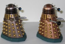 SDCC Chocolate Assault Dalek and Dalek Thay