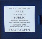 Tardis Cookie Jar Door Notice detail