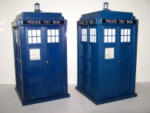 Tardis Money Box 9th Doctor & Rose version (2005)  and 10th Doctor & Rose Tardis (2006)