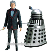 Third Doctor Jon Pertwee and Silver Dalek